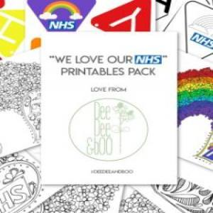 Free NHS printouts to colour in