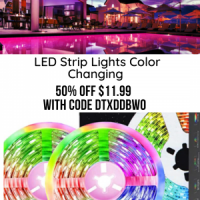 LED Strip Lights Color Changing 32.8ft/10m with Remote & Bluetooth