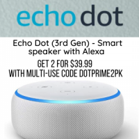 Echo Dot (3rd Gen) - Smart speaker with Alexa 2 for $39.99