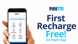 100% Cashback up to ₹50 on your 1st Recharge of ₹48 or more on Paytm